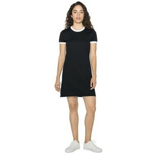 American Apparel Ladies' Poly-Cotton Ringer T-Shirt Dress