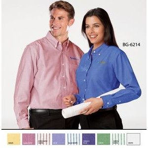 Ladies' Long Sleeve Cotton/Poly Oxford Shirt