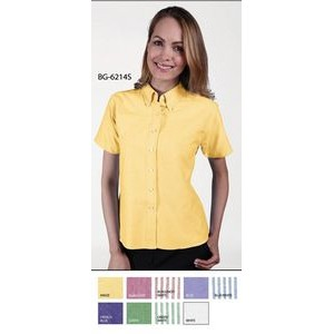 Ladies' Short Sleeve Cotton/ Poly Oxford Shirt